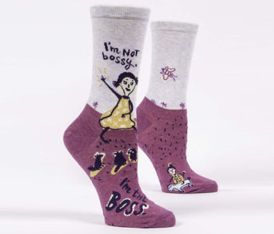 Women's I'm Not Bossy Crew Socks - Idaho Mountain Touring
