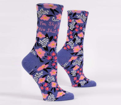 Blue Q Socks Women's I'm Shy? No Shit Crew Socks - Idaho Mountain Touring