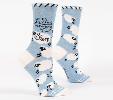Blue Q Socks Women's In Loving Memory of Sleep - Idaho Mountain Touring