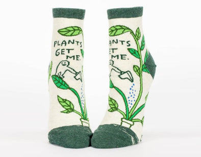 Women's Plants Get Me Ankle Socks