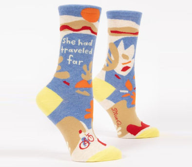 Women's She Had Traveled Far Crew Sock