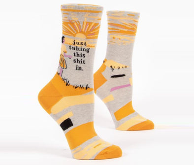 Blue Q Socks Women's Taking This Shit In Crew Sock - Idaho Mountain Touring