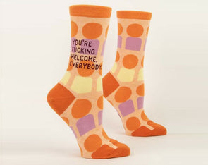 Women's You're Fucking Welcome Crew Socks - Idaho Mountain Touring