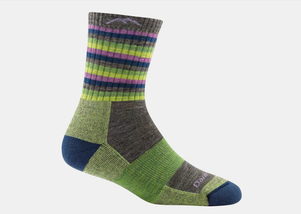Darn Tough Women's Stripes Micro Crew Cushion Sock - Idaho Mountain Touring