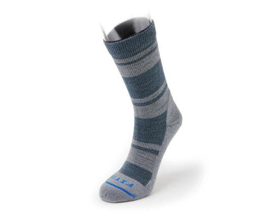 FITS Technology Men's Light Hiker Striped Crew Sock - Idaho Mountain Touring