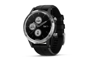 Garmin fenix 5 Plus Silver w/ Black Band - Idaho Mountain Touring