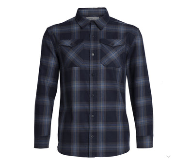 Icebreaker Men's Lodge Long Sleeve Flannel Shirt - Idaho Mountain Touring