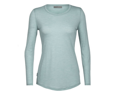 Icebreaker Women's Cool-Lite Sphere Long Sleeve Low Crewe - Idaho Mountain Touring