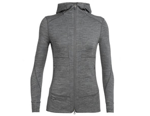 Icebreaker Women's Quantum Long Sleeve Zip Hood Jacket - Idaho Mountain Touring