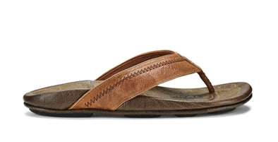 OluKai Men's Hiapo Leather Sandals - Idaho Mountain Touring