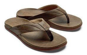 OluKai Men's Pikoi Leather Beach Sandals - Idaho Mountain Touring