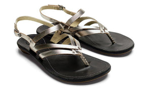 OluKai Women's U'i Ko'o Leather Slingback Sandals - Idaho Mountain Touring