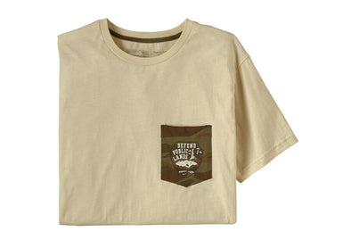 Men's Defend Public Lands Organic Pocket T-Shirt