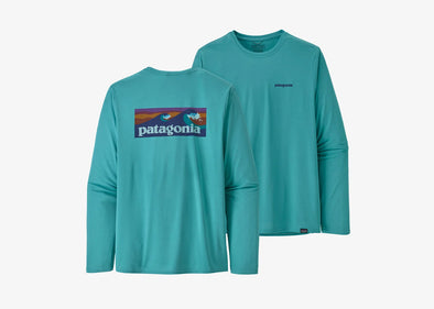 Men's Long-Sleeved Capilene Cool Daily Graphic Shirt - Idaho Mountain Touring