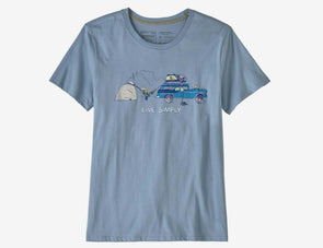 Women's Live Simply Lounger Organic Crew T-Shirt - Idaho Mountain Touring