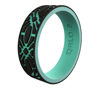 QALO Women's Strata Flora Silicone Ring - Idaho Mountain Touring