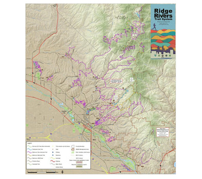 Misc Books and Media Ridge to Rivers Map - Idaho Mountain Touring