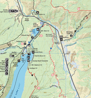 Adventure Maps Inc. Sawtooth & White Cloud Mountains Trail Map - Idaho Mountain Touring