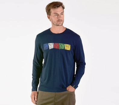 Sherpa Adventure Gear Men's Tarcho Organic Long Sleeve Tee - Idaho Mountain Touring