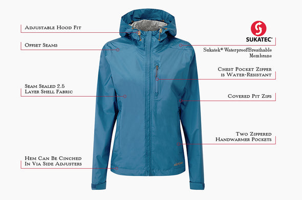 Sherpa Adventure Gear Women's Kunde 2.5 Layer Jacket - Idaho Mountain Touring