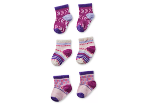 Smartwool Baby Bootie Batch Socks Trio Gift Box - Idaho Mountain Touring