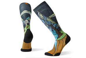 Smartwool Men's PhD Ski Light Elite Benchetler Print Sock - Idaho Mountain Touring