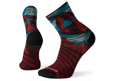 Smartwool Men's PhD Outdoor Light Arches Print Mid Crew Sock - Idaho Mountain Touring