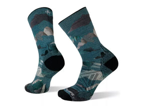 Smartwool Men's PhD Outdoor Light Mountain Camo Print Crew Sock - Idaho Mountain Touring