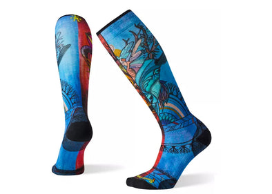 Smartwool Women's PhD Ski Ultra Light Print Sock - Idaho Mountain Touring