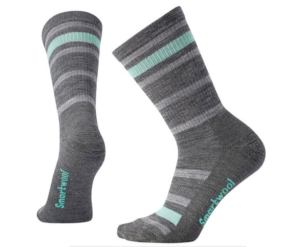 Women's Striped Hike Light Crew Socks - Idaho Mountain Touring