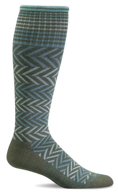 Women's Chevron Compression Sock - Idaho Mountain Touring