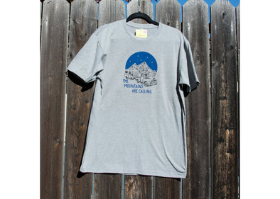 Ladybug Press Mountains are Calling T-Shirt - Idaho Mountain Touring