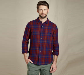 Toad&Co. Men's Indigo Slim Long Sleeve Flannel Shirt - Idaho Mountain Touring