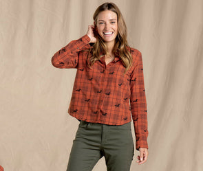 Toad&Co. Women's Funday Long Sleeve Swing Shirt - Idaho Mountain Touring