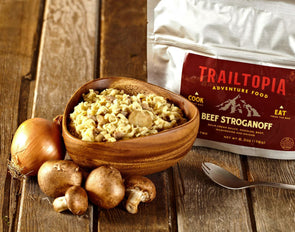 Trailtopia Beef Stroganoff - Idaho Mountain Touring
