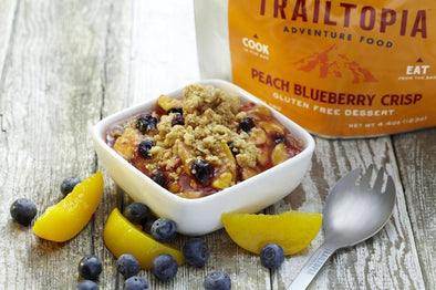 Gluten Free Peach Blueberry Crisp
