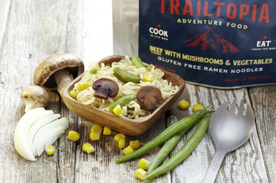Trailtopia Ramen Noodles - Beef Flavor with Vegetables and Mushrooms - Idaho Mountain Touring