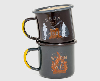 Hand Dipped 5oz Enamel Steel Mug