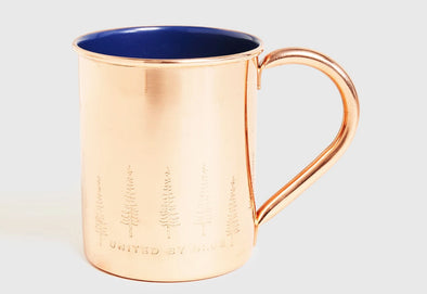 Enamel Lined Copper Mug 14oz