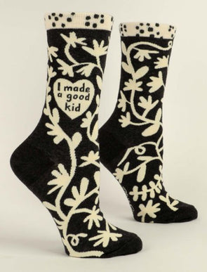 Women's I Made A Good Kid Crew Sock - Idaho Mountain Touring
