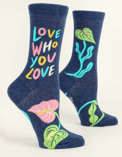 Women's Love Who You Love Crew Sock - Idaho Mountain Touring
