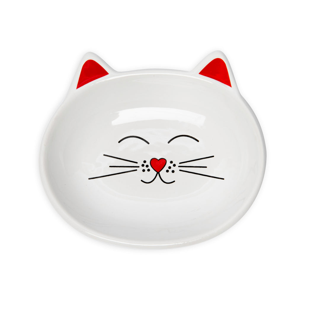 OSCAR WHITE CAT DISH - Park Life Designs