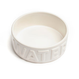 CLASSIC WATER WHITE PET BOWL - Park Life Designs
