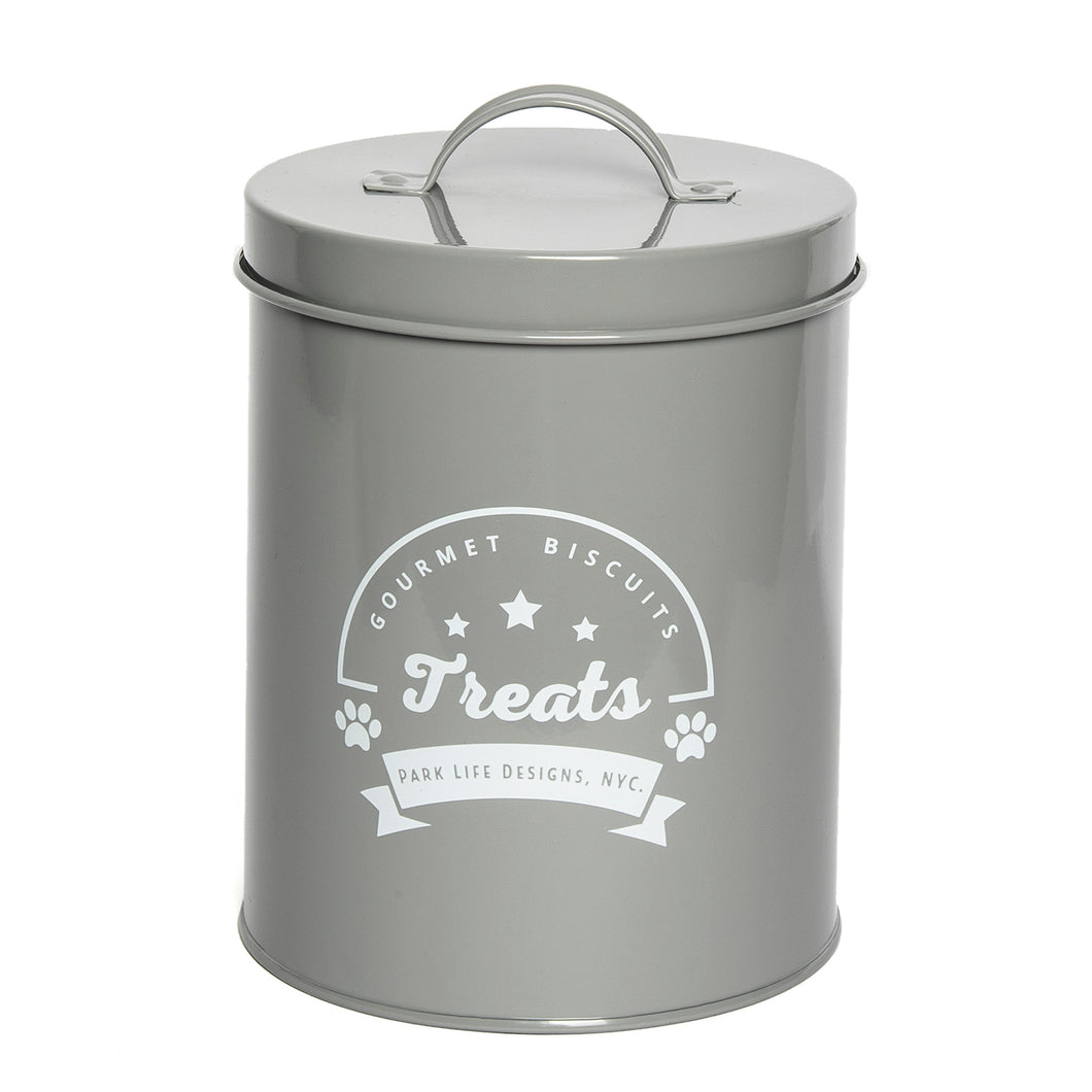 GOURMET BISCUITS GREY TREAT CANISTER