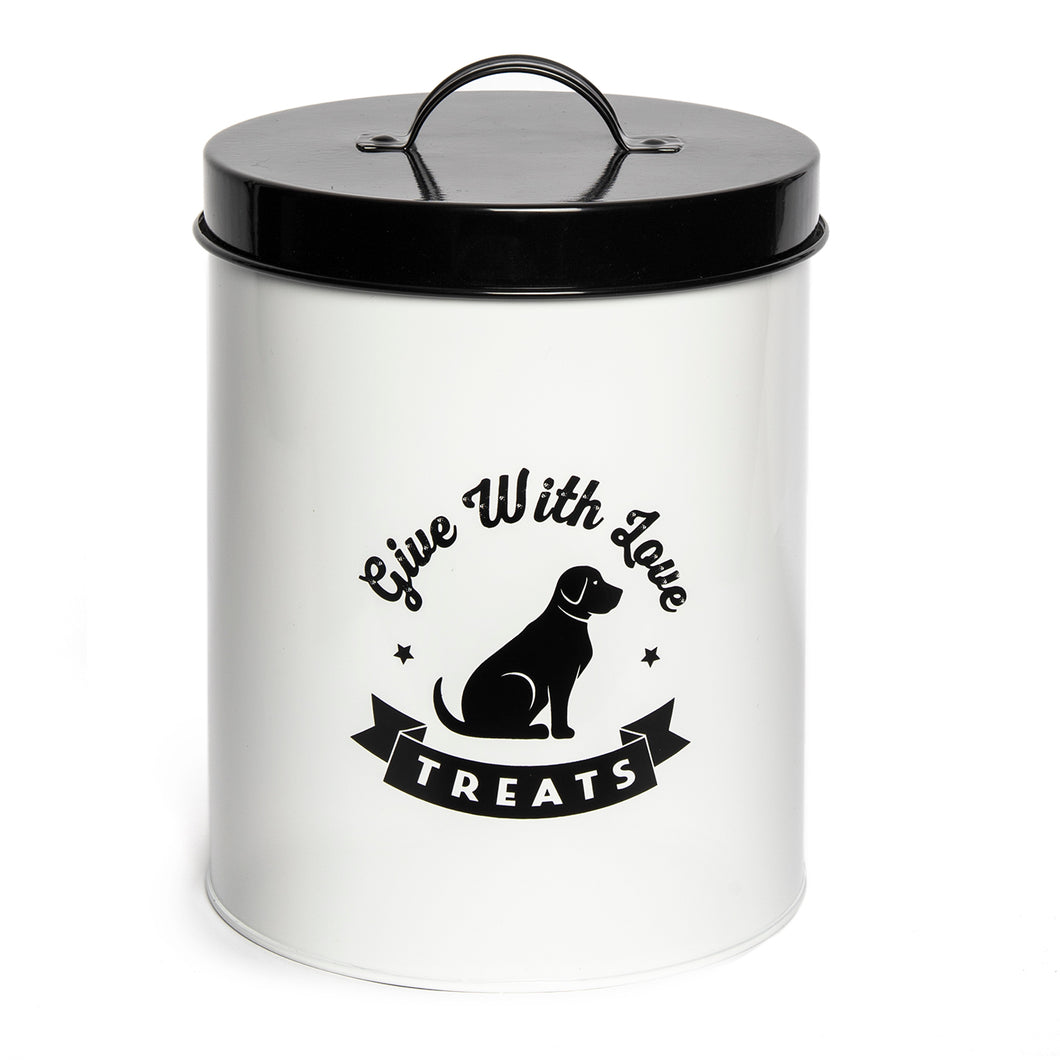 AMORE WHITE TREAT CANISTER
