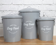 Load image into Gallery viewer, Andreas Grey Food Storage Canisters (set of 3)