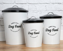 Load image into Gallery viewer, Andreas White Food Storage Canisters (set of 3)