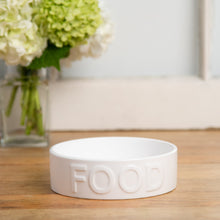 Load image into Gallery viewer, CLASSIC FOOD WHITE PET BOWL - Park Life Designs