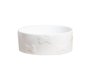 MANOR WHITE PET BOWL - Park Life Designs