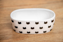 Load image into Gallery viewer, WHITE MONTY OVAL CAT DISH